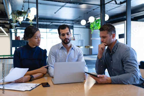 Business people working together in modern office