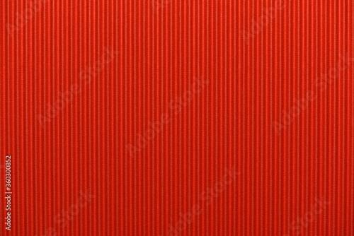 red cardboard texture, Textured corrugated striped cardboard Fotobehang