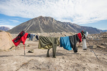 Climbers Clothes Hanging To Dr...