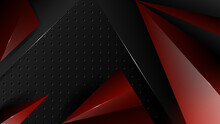 Abstract Red Black Background With 3D Style