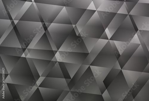 Light Gray vector gradient triangles pattern.