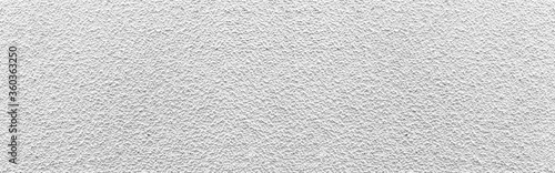 Foto Panorama of White cement wall texture and seamless background