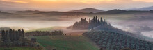 Tuscany Foggy Morning.