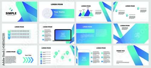 Fotografía Template is the best as a business presentation, used in marketing and advertising, flyer and banner, the annual report