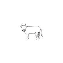 Cow - Bull Silhoutte Icon Illu...