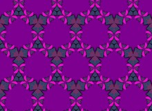 Abstract Purple Pattern With Flower Lace