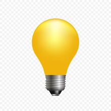 Realistic 3d Light Bulb.