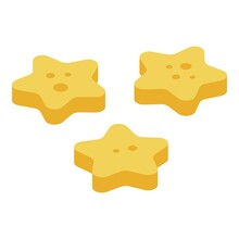 Cereal Flakes Stars Icon. Isom...