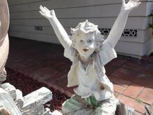 Boy Child Garden Statue Smilin...