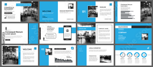 Fotografía Presentation and slide layout template