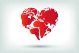 Heart World, World and Love, Happy World Map