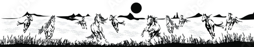 Fotografija Herd of horses running forward