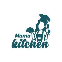 Woman Cooking Vector Logo