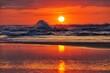 Leinwandbild Motiv sunset at beaches in New Zealand