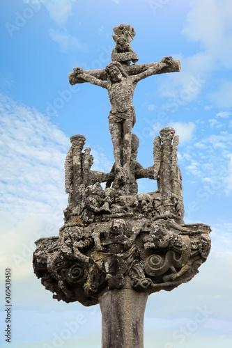 Photo La Martyre. Calvaire de l'enclos paroissial. Finistère. Bretagne