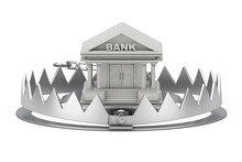 Metal Bear Trap With Bank Buil...