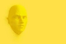 Abstract Yellow Cubes Human He...