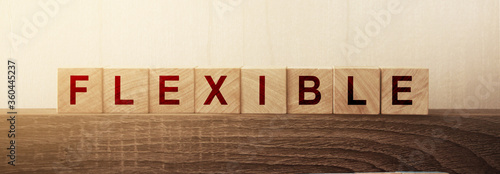 Wooden Blocks with the text: Flexible Canvas-taulu