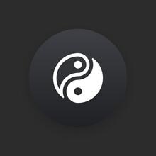 Symbol -  Matte Black Web Button
