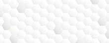 Bright White Abstract Honeycomb Banner Background Vector Illustration EPS10