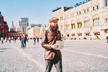Trendy Hipster Guy With Naviga...