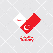 National Day Card Template With Heart Shaped Flag : Vector Illustration