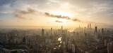 city skyline in shanghai china