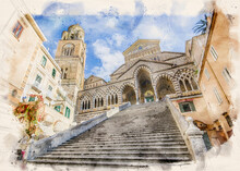 The Amalfi Cathedral Bell Towe...