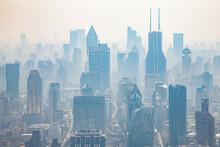 Smog In The City. Panorama Vie...