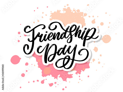 Foto Vector illustration of hand drawn happy friendship day felicitation in fashion s