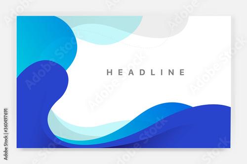 Foto Sfondo con onde blu con lo spazio per titolo e testi