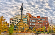 Soldiers And Sailors Monument On Public Square In Cleveland, Ohio