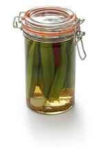 Homemade Pickled Okra In Jar I...