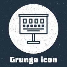 Grunge Line Eye Test Chart Ico...