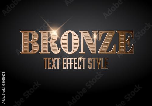 Fototapeta Bronze Metallic Text Effect with Glitter obraz