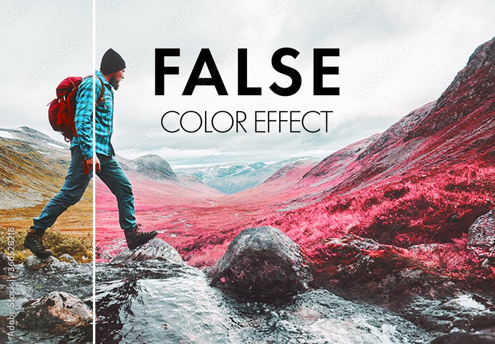 Fototapeta Fluorescent Color Manipulation Effect