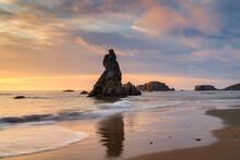 Sunset At Bandon Beach Oregon