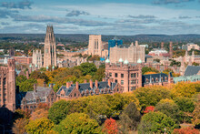 City Of New Haven In The Fall From Birds Eye Perspective