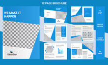 12 Pages Brochure Template Lay...