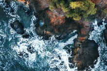 Aerial View Of The Waves Of Th...