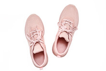 Pink Female Sneakers Isolated ...