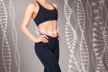 Sporty Girl With Slim Belly Po...