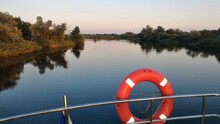 Lifesever On The Boat. Panoram...