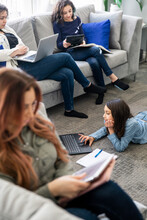 Girls Using Digital Devices In...