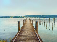A Jetty Of Wooden Planks Protr...