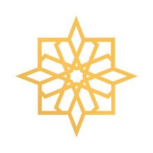 Ramadan Kareen Golden Star Dec...