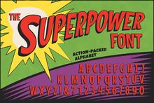 A Classic Comic Book Logo Alphabet; The Superpower Font