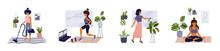 Set Of Lifestyle Vector Illust...