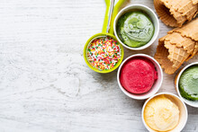 Top View Of Ice Cream Flavors ...