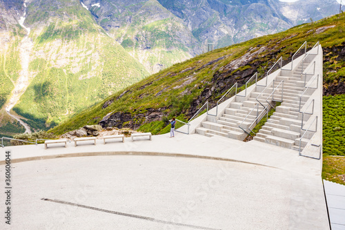 Canvastavla Utsikten viewpoint in Norway